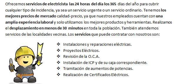 Equipo de Electricistas en Cambre con urgencia